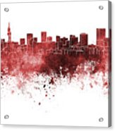 Pretoria Skyline In Watercolor Background Acrylic Print