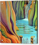 Prosperity Waterfall 2 Acrylic Print by Barbara Stirrup