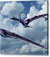 Pterodactyls In Flight Acrylic Print