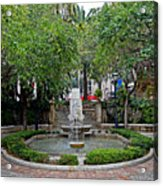 Public Fountain And Gardens In Palma Majorca Spain Acrylic Print