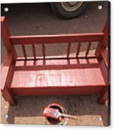 Red Bench Acrylic Print