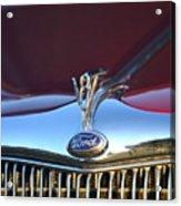 Red Ford Hotrod Acrylic Print