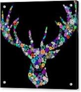 Reindeer Design By Snowflakes Acrylic Print