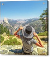 Relaxing At Glacier Point Acrylic Print