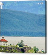Remote Lighthouse Island Standing In The Middle Of Mud Bay Alask Acrylic Print