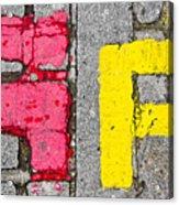 Road Markings Acrylic Print