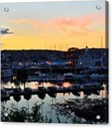 Rockport Harbor Sunset I Acrylic Print