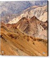 Rocks And Stones Mountains Ladakh Landscape Leh Jammu Kashmir India Acrylic Print