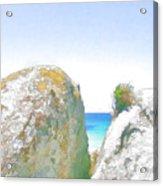 2 Rocks By The Sea Acrylic Print by Jan Hattingh