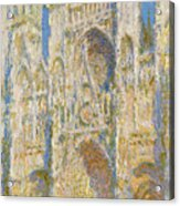 Rouen Cathedral, West Facade, Sunlight Acrylic Print