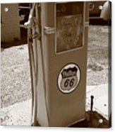 Route 66 Gas Pump Acrylic Print
