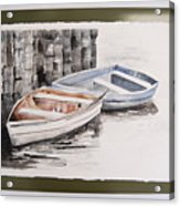 2 Rowboats At Rest Acrylic Print