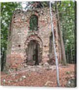 Ruins Of The Baroque Chapel Of Saint Mary Magdalene Acrylic Print
