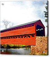Sachs Bridge - Gettysburg Acrylic Print
