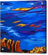 Sailing Sedonas Sky Acrylic Print