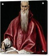Saint Jerome As Scholar Acrylic Print