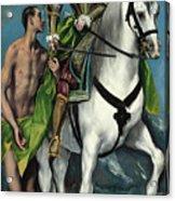 Saint Martin And The Beggar Acrylic Print