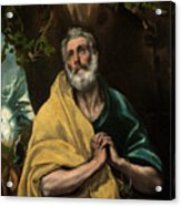 Saint Peter In Tears Acrylic Print