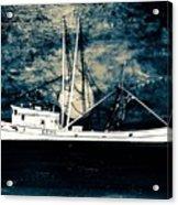 Salty Shrimp Boat Acrylic Print