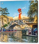 San Antonio River Walk Acrylic Print
