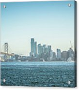 San Francisco California City Skyline At Spring Sunset Acrylic Print