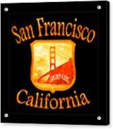 San Francisco California Golden Gate Design Acrylic Print