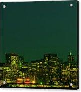 San Francisco Nighttime Skyline Acrylic Print