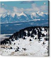 Sangre De Cristo Mountains In Winter Acrylic Print