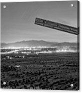 Santa Fe, Nm, From Bonanza Creek Ranch, Illuminated By The Moon, Acrylic Print