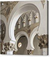 Santa Maria La Blanca Synagogue - Toledo Spain Acrylic Print