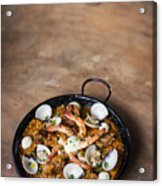 Seafood And Rice Paella Traditional Spanish Food Acrylic Print