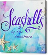 Seashells By Jan Marvin Acrylic Print