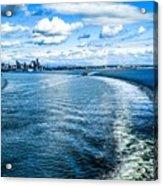Seattle Washington Cityscape Skyline On Partly Cloudy Day Acrylic Print