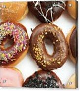Selection Of Doughnut Acrylic Print