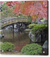 Sento Imperial Palace Gardens Lake Acrylic Print by Rob Tilley