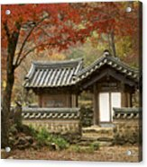 Seonamsa In Autumn Acrylic Print