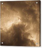 Sepia Clouds Acrylic Print by David Pyatt