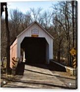 Sheards Mill Covered Bridge - Bucks County Pa Acrylic Print