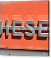 Side Badge Acrylic Print