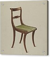 Side Chair Acrylic Print