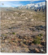 Snowy Four Peaks Arizona Acrylic Print