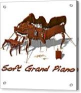 Soft Grand Piano  Acrylic Print