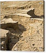 Soil Erosion Acrylic Print