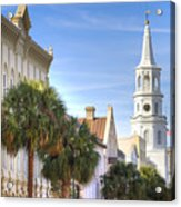St Michaels Church Charleston Sc Acrylic Print