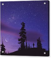 Starry Sky Acrylic Print by David Nunuk