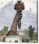 Statue Of Liberty, 1876 Acrylic Print