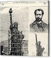 Statue Of Liberty, 1885 Acrylic Print