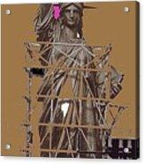 Statue Of Liberty Being Built 1876-1881 Paris Collage Pierre Petit Acrylic Print