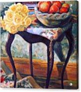 Still Life With Roses Acrylic Print