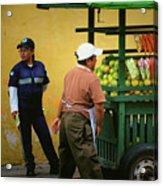 Street Vendor - Antigua Guatemala Acrylic Print